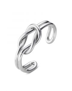 Georg Jensen - Love Knot åben armring i sølv, designet med elegant knude. 20000243000.