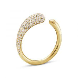 Georg Jensen - Mercy ring i 18 karat guld med diamanter. Ringen er skabt i et enkelt og iøjnefaldende design. 2000002100.