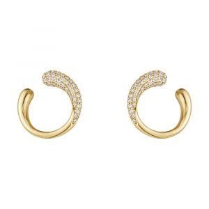 Georg Jensen - Mercy øreringe i 18 karat guld med diamanter. Diameter:14 mm. 10017827.