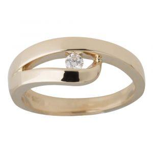 Nordahl Andersen Ring i 14 karat guld med en 0,079ct diamant