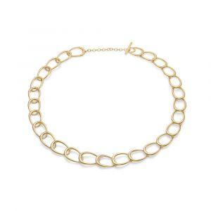Mads Z - Diamond Ellipse halskæde i 14 karat guld, designet som en række af sammensatte led. Et enkelt led er besat med diamanter - i alt 0,12 ct.1521070.