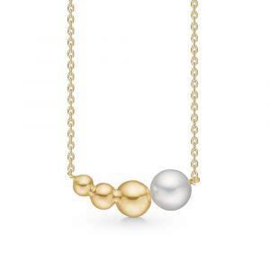 Biggest Ball halskæde i 14 karat guld med ferskvandsperle (1523077)