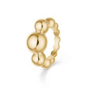 Mads Z - Biggest Ball ring i 14 karat guld. Det er en smuk blankpoleretring, designet med kugler i forløb i forskellige størrelser. 1540077.