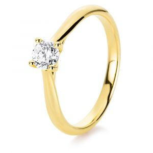 Boye Jewelry -Solitaire ring i 14 karat guld meden0,40 ct brillantsleben diamant. 1A292G4.