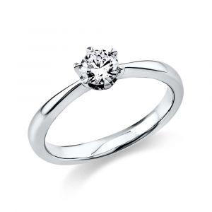 Boye Jewelry - Solitaire ring i 14 karat hvidguld, med en brillantsleben diamant, 0,40 ct . 1C483W4.