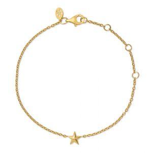 byBiehl Fine Star 14 karat guld armbånd med en fin lille stjerne, 2-2102-G