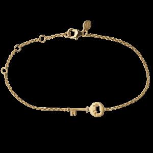 by Biehl Unlock Strength nøgle armbånd i forgyldt sølv med elefant, 2-2604a-GP