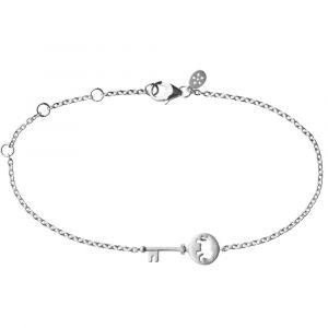 byBiehl Unlock Strength sølv nøgle armbånd, 2-2604a-R