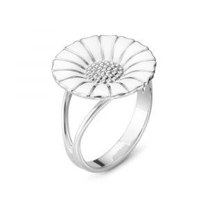 Georg Jensen - Daisy ring i rhodineret sølv med emalje (2000090300)