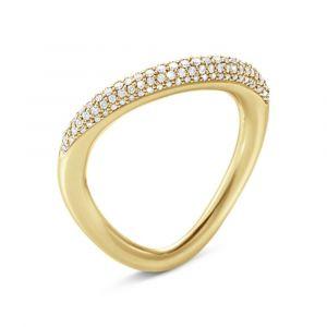 Offspring ring i 18kt guld med diamant pavé (20000990)