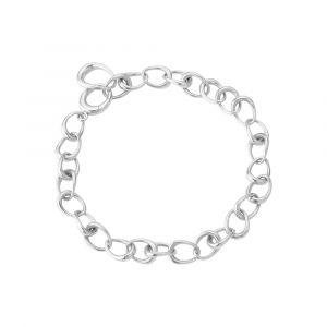 Georg Jensen - Offspring Link armbånd i sølv. Det stilrene armbånd består af sammensatte led, designet med den kendte Offspring form. Bredde:6,7 mm. 20000998.