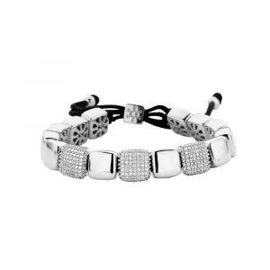 Spirit Icons - Intense armbånd i sølv med zirkonia. Armbåndet kan varieres i længden medsnortrækslås. 20171