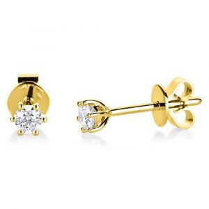Boye Jewelry - Solitaire ørestikker i 14 karat guld. Disse elegante øreringe er designet med 0,20 ct brillantslebne diamanter. 2A985G4.