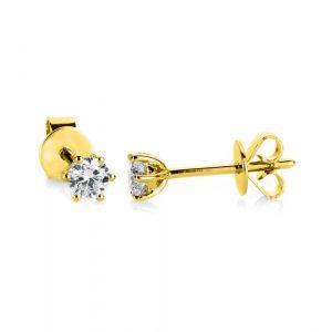 Boye Jewelry - Solitaire ørestikker i 14 karat guld. De klassiske små øreringe er designet med i alt 0,25 ct brillantslebne diamanter. 2A986G4.