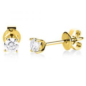 Solitaire ørestikker i 14kt guld med 0,10 ct diamanter (2A994G4)