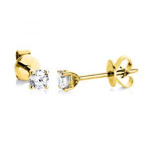 Boye Jewelry - Solitaire ørestikker i 14 karat guld. De små øreringe er designetmed i alt 0,25 ct brillantslebnediamanter. 2A997G4.
