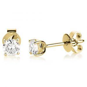 Boye Jewelry - Solitaire ørestikker i 14 karat guld. Det er små klassiske øreringe, designet med i alt 0,50 ct brillantslebne diamanter. 2B001G4.
