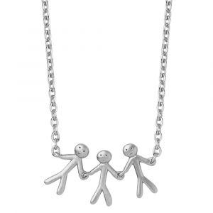 byBiehl Together Family 3 sølv halskæde med lille familie, 3-2003-R
