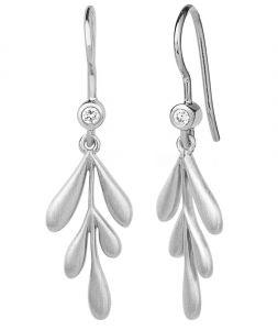 byBiehl Forest sølv øreringe med zirkoner, 4-2301a-R