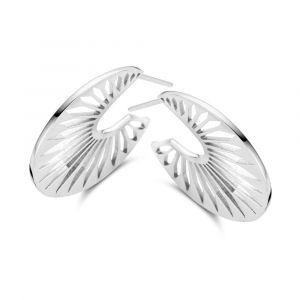 Spirit Icons - Peacock øreringe i sølv, 41141