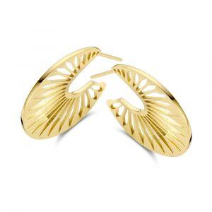 Spirit Icons - Peacock øreringe i forgyldt sølv, 41142