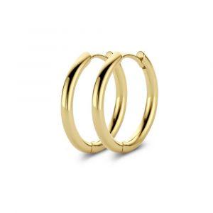 Spirit Icons - Balance creol øreringe i forgyldt sølv. De klassiske hoops er fremstillet i 18 karat guldbelagt sølv, med en blankpoleret overflade.41492.