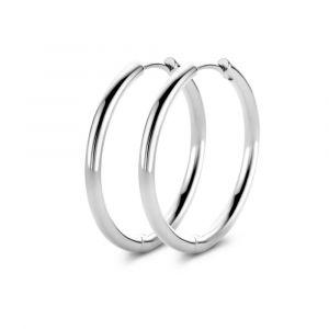 Spirit Icons - Balance large hoops øreringe i sølv. De stilrene creoler er fremstillet med en blankpoleret overflade.Mål: 21 mm.41501.