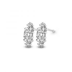Spirit Icons - Vida aflange ørestikker i 14kt hvidguld med diamanter. 44197