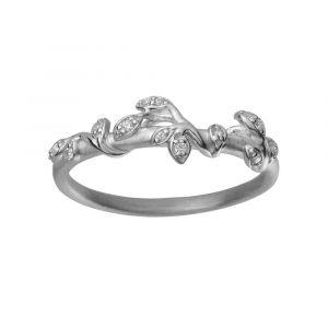 byBiehl Jungle Ivy sparkle sølv ring med zirkoner, 5-3102a-R