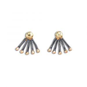 By Birdie - Shooting Star ørestikker i sølv medguld. De fine øreringe er fremstillet i925 sterling sølv, med 14 og 18 karat guld. 50811300.