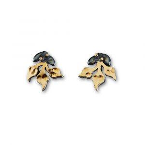 By Birdie - Windsor Bouquet ørestikker, fremstillet i925 sterling sølv. De fine blade er belagtmed 14 karat guld. 50811397.