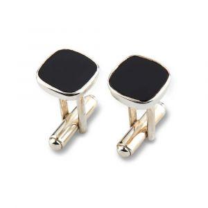 By Birdie - Nordkrafti sølv med onyx. De finemanchetknapper er designet i blankpoleret sølv med sort onyx. 5095001D.