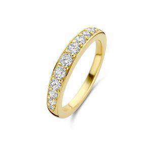 Spirit Icons - Victoria ring i forgyldt sølv, med en række af zirkonia placeret langs toppen. Det er en elegant ring, med en smuk blankpoleret overflade. 51272.
