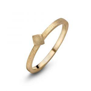 Spirit Icons - Block ring i forgyldt sølv. Ringen har en matteret overflade. Toppen er designet som en lille firkant på 4 mm. 53322