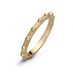 Spirit Icons - Spike ring i forgyldt sølv. Ringener designet med en matteret overflade. Langs toppen er små blanke kugler. 53332