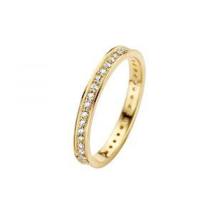 Spirit Icons - Chic ring i 14 karat guld med diamanter. Ringen er designet med blankpoleret sider. I midten er en række smukke 0,41ct diamanter. 54036.