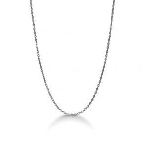 Mads Z -Anker halskæde i rhodineret sølv. Det er en fin klassisk kæde, derkan bæres med eller uden vedhæng. 912000.