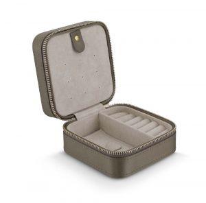 Jewellery box i beige silke (A1003-003)
