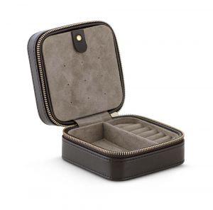 Jewellery box i brun læder (A1003-004)