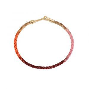 Ole Lynggaard - Life Berry armbånd med lås i 18 karat guld. Armbåndet er designet medknyttet reb ivarme bærfarver. Bredde: 3 mm. A3040-414