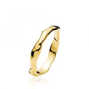 Izabel Camille - Emma ring i forgyldt sølv. Ringen er designet med en minimalistisk organisk form, og en blankpoleret overflade. a4162gs.