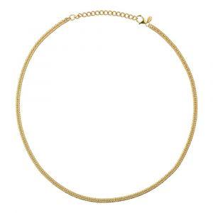 byBiehl - Curb Double halskæde i 14 karat forgyldt sølv. Halskæden er designet som en smuk dobbelt panserkæde. Halskædens længde er justerbar. 3-1505-GP.