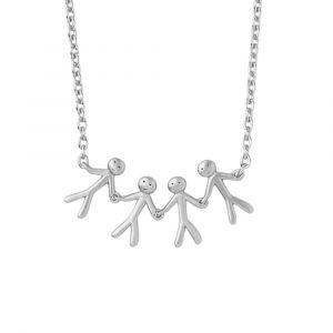 byBiehl Together Family 4 halskæde i sølv, 3-2004-R