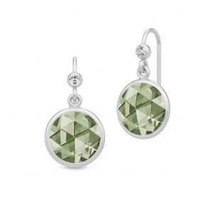 Julie Sandlau Cocktail Dusty Green sølv øreringe med grøn spinel. HKS515RHDGSPCZ