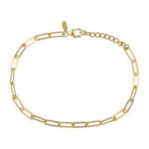 byBiehl - Link armbånd i 14 karat forgyldt sølv. Den elegante armlænke er fremført i et smalt trendy design. Armbåndets længde er justerbar. 2-1503-GP.