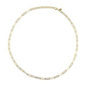byBiehl - Link halskæde i forgyldt sølv. Halskæden er designet som en smal fin lænke. 3-1503-GP.