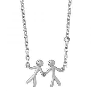 byBiehl Together My Love sølv halskæde med en lille zirkonia ,3-2002a-R