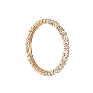 Ole Lynggaard - Nature vedhæng i 18 karat guld med diamanter, formet som en åben cirkel. Det kan bæres både i øreringe, eller i en kæde om halsen. A3049-401