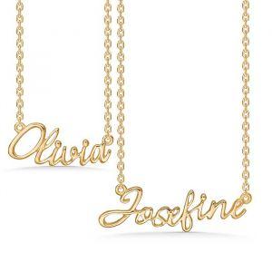 Mads Z - Navnekæde i forgyldt sølv. Køb en navnehalskæde til dig selv, eller til en du holder af.Vi har halskæder med de 50 mest populære navne. 8220.