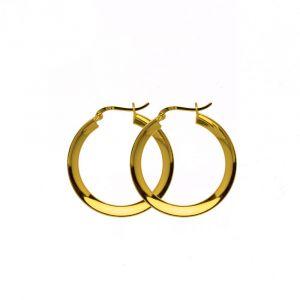 Hultquist - Annabella creoler i forgyldt sølv. De fine øreringe er fremstilleti et klassisk design. Diameter: 35 mm. S01012-G.